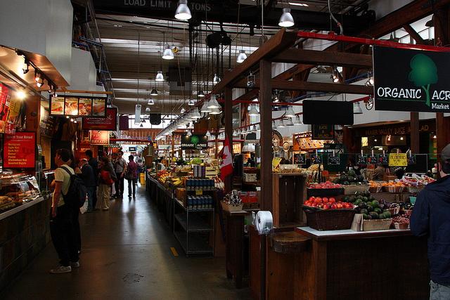 Granville Island Public Market in Vancouver. Photo by Márcio Cabral de Moura.
