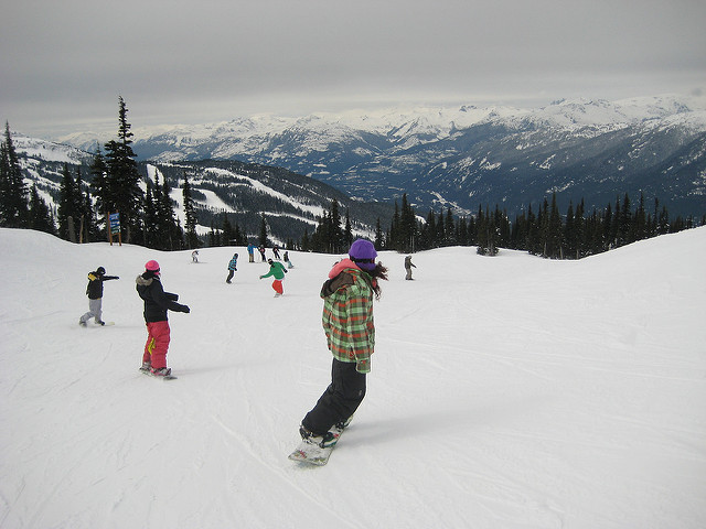 Photo of skiing and snowboarding in Whistler by Todd Van Hoosear on Flickr: https://flic.kr/p/6bbWdk
