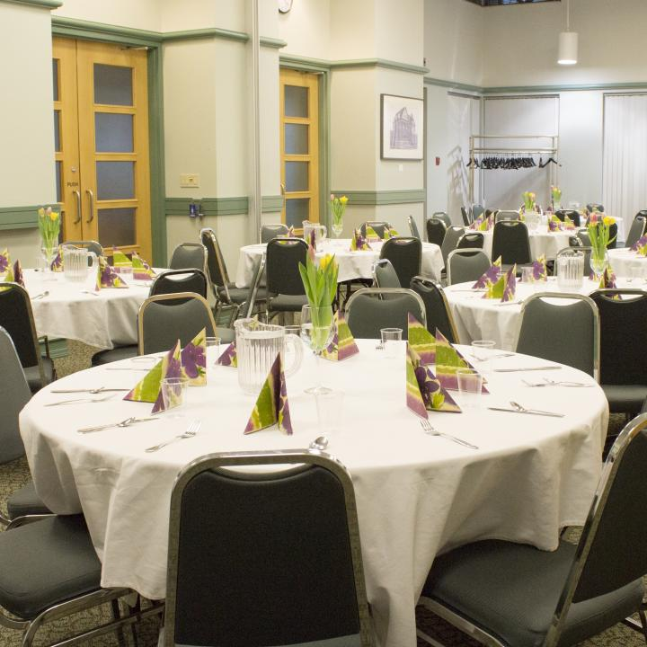 Combined Royal Bank and Canfor room - Banquet/ party - YWCA Hotel Vancouver Meeting room rentals